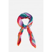 PRINTED PLEATED SCARF