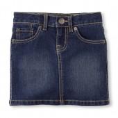 Girls Five-Pocket Denim Skirt