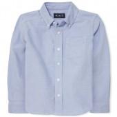 Boys Uniform Long Sleeve Oxford Button-Down Shirt
