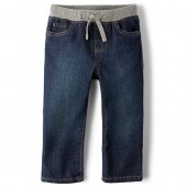 Baby And Toddler Boys Basic Pull On Straight Jeans - Liberty Blue Wash