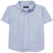 Boys Uniform Short Sleeve Oxford Button-Down Shirt