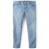 Girls Basic Super Skinny Jeans - Light Indigo Wash