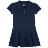 Girls Uniform Short Sleeve Knit Polo Dress