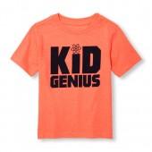 Toddler Boys Short Sleeve Kid Genius Neon Graphic Tee