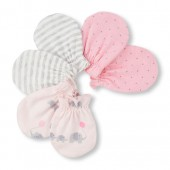 Baby Girls Family Love Elephant Print Mittens 3-Pack
