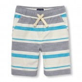 Boys Striped Woven Jogger Shorts