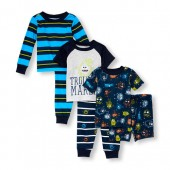 Baby And Toddler Boys Monster Stripe Troublemaker 6-Piece PJ Set