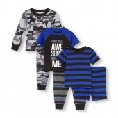 Baby And Toddler Boys Camo Stripe Cant Spell Awesome Without Me 6-Piece PJ Set
