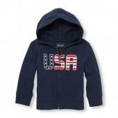 Toddler Boys Americana Long Sleeve Full-Zip Hoodie