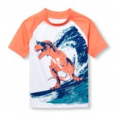 Toddler Boys PLACE Sport Short Raglan Sleeve Graphic Rashguard