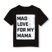 Toddler Boys Short Sleeve Mad Love For Mama Graphic Tee