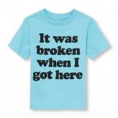 Toddler Boys Short Sleeve It Was Broken When I Got Here Graphic Tee