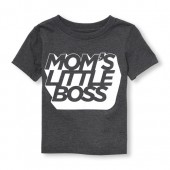 Toddler Boys Short Sleeve Moms Little Boss Graphic Tee