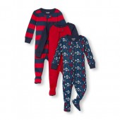Baby And Toddler Boys Long Sleeve Mommys Captain Adorable Footed Stretchie 3-Pack
