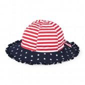 Toddler Girls Americana Printed Ruffle Bucket Hat