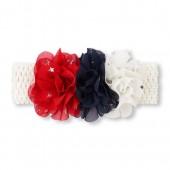 Baby Girls Americana Star Print Flower Headwrap