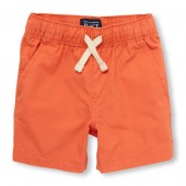 Toddler Boys Solid Woven Jogger Shorts