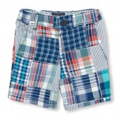 Toddler Boys Plaid Woven Shorts