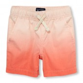 Toddler Boys Ombre Woven Jogger Shorts