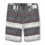 Boys Striped Woven Shorts