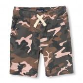 Boys Camo Print Woven Jogger Shorts