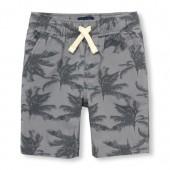 Boys Palm Tree Print Woven Jogger Shorts