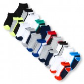 Toddler Boys Colorblock And Solid Ankle Socks 20-Pack