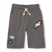 Boys Matchables Graphic Patch Slub Knit Shorts
