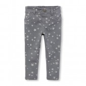 Baby And Toddler Girls Sparkle Printed Knit Jeggings