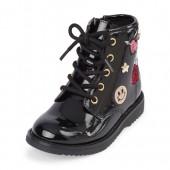 Toddler Girls Glitter Patch Roxi Boot