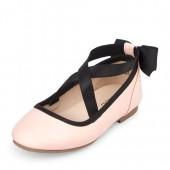 Toddler Girls Wrap Bow Kayla Ballet Flat