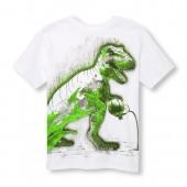 Boys Short Sleeve Basketball Dino Graphic Tee