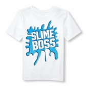 Boys Short Sleeve Slime Boss Graphic Tee