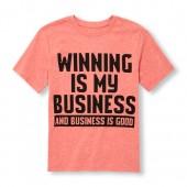 Boys Short Sleeve Winning Is My Business Graphic Tee