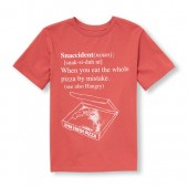 Boys Short Sleeve Snaccident Definition Graphic Tee