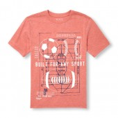 Boys Short Sleeve Built For Any Sport Graphic Tee