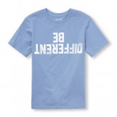 Boys Short Sleeve Be Different Graphic Tee