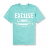 Boys Short Sleeve Excuse Loading Please Wait Graphic Tee