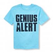 Boys Short Sleeve Genius Alert Graphic Tee