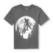 Boys Short Sleeve BMX Moon Graphic Tee