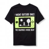 Boys Short Sleeve I Went Outside Once The Graphics Were Okay Graphic Tee