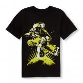 Boys Short Sleeve Skater Astronaut Graphic Tee