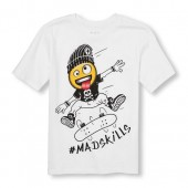 Boys Short Sleeve Hashtag Mad Skills Graphic Tee