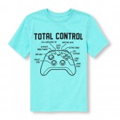 Boys Short Sleeve Total Control Gamer Graphic Tee