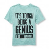 Boys Short Sleeve Its Tough Being A Genius But I Manage Graphic Tee