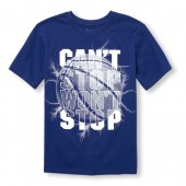 Boys Short Sleeve Cant Stop Wont Stop Basketball Graphic Tee