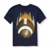 Boys Short Sleeve Football Graphic Tee