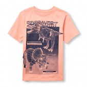 Boys Short Sleeve Dinosaurs Rulers Of The Earth Graphic Tee