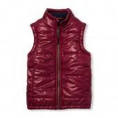 Boys Solid Puffer Vest