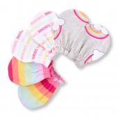 Baby Girls Rainbow Stripe Mittens 3-Pack